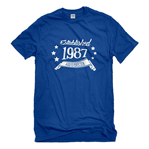 Mens Established 1987 Large Royal Blue - Rb 3445