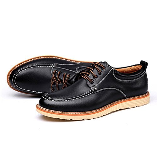 O & N Heren Moderne Veter Oxford Schoenen Zwart