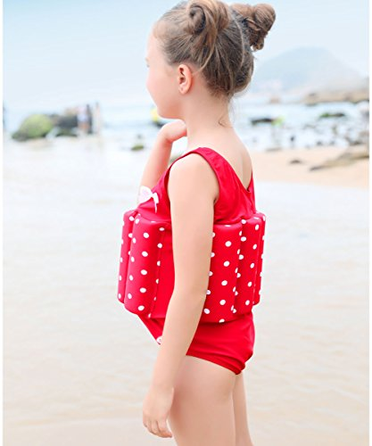 6237fa3469a6b Zerlar Floatation Swimsuits with Adjustable Buoyancy for 1-10 years Baby  Girls