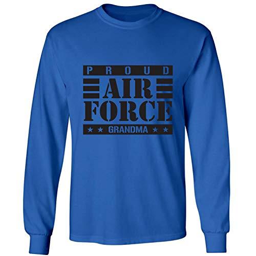 Air T-shirt Adult Force - ZeroGravitee Proud Air Force Grandma Adult Long Sleeve T-Shirt in Royal - Medium
