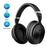 Mpow H5 [Upgrade] Active Noise Cancelling Headphones, 30Hrs Playtime (ANC) Bluetooth Headphones Over Ear, Superior Deep Bass Wireless Headphones, Soft Protein Earpads, for TV/PC/Cellphone/Travel/Work