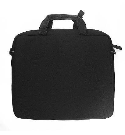 Gizmo Dorks gepolstert mit Verzierungen aus Kunstleder (Schwarz mit schwarzem Rand) mit Aktentasche Karabinerhaken für 39,62 cm HP ProBook Notebook