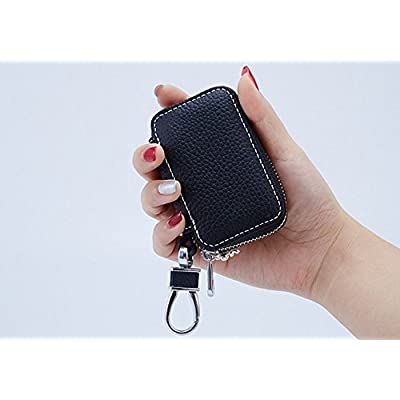 Bestbling Car Key Holder Flower 3D Handmade Leather Auto Key Case Car Key Gourd Leather Holder Cover Case with Luxury Bling Crystal Diamond Rhinestones (Purple): Automotive