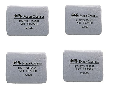 Faber- Castell Grey Kneaded Professional Artist Quality Erasers? Bulk Buy Quantity 4 Erasers Per Order