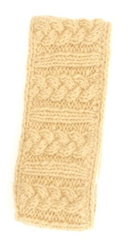 Nirvanna Designs HB03 Cable Headband with Fleece, Wheat