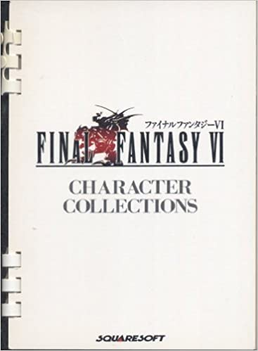 FINAL FANTASY VI 6 CHARACTER COLLECTIONS w//Card Art Book 1994 SE