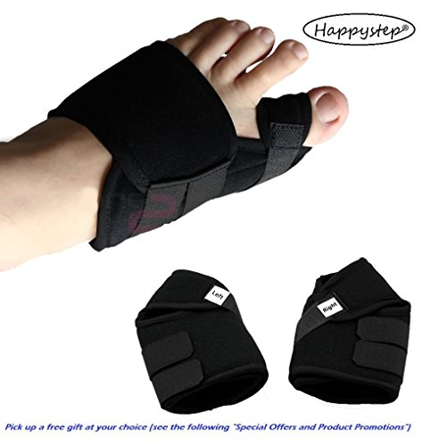 HappyStep® 1 Pair Bunion Splint, Hallux Valgus Corrector, Bunion Corrector, Toe Straightener, Big Toe Alignment and Bunion Pain Relief (Size S: US Women Size 4-6.5 or Kid Size 2-4.5)