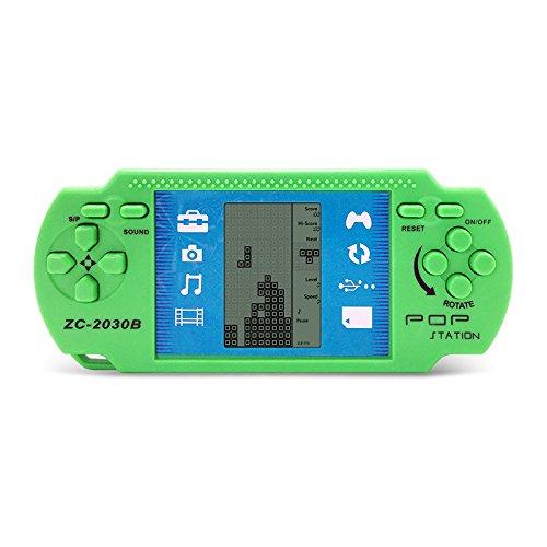 JXD Green Retro Portable Tetris Handheld Built-in 23 Games Tetris Kids Electronic Brick Games