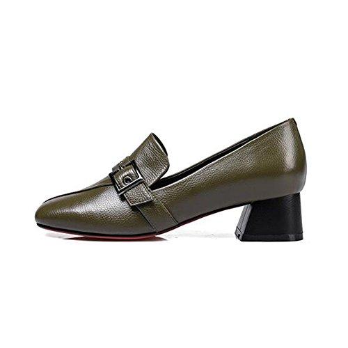 Mid Pointed Shallow Foot Heel Scarpe da Cjc donna Finger Fashion 2 Square FnWOTXfZwq