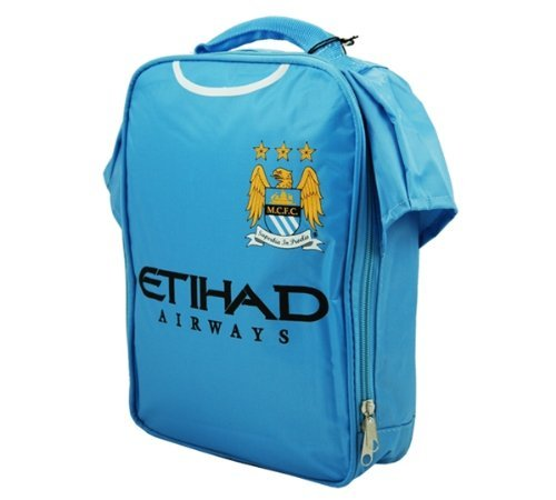 Official Football Merchandise Boys' Official Football Team Kit Lunch Bag Manchester City Fc Approx 29 X 22 X 6Cm by Official Football Merchandise