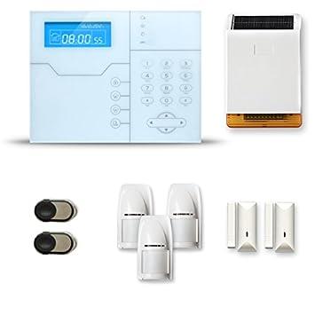 Alarma Casa inalámbrico SHB 2 A 3 piezas, movimiento, intrusión, sirena exterior solar
