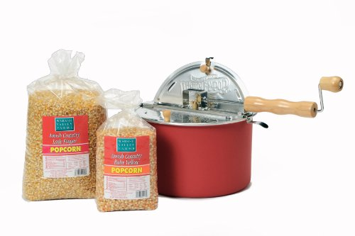 Petite Popcorn Duo with Barn Red Whirley-Pop Petits Duos