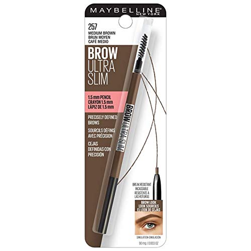 Maybelline New York Brow Ultra Slim Defining Eyebrow Makeup Mechanical Pencil With 1.55 MM Tip & Blending Spoolie For…
