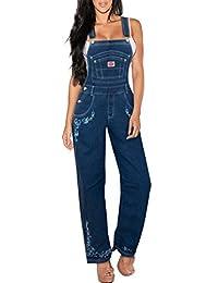 Revolt Jeans Women's Plus Size Denim Bib Overalls