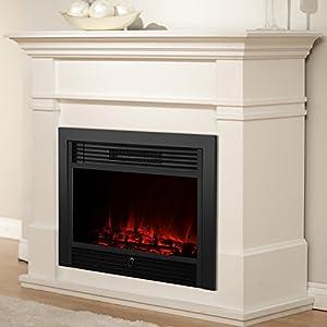 Uenjoy 28 5 Embedded Electric Fireplace Insert Heater W Remote Glass View Log
