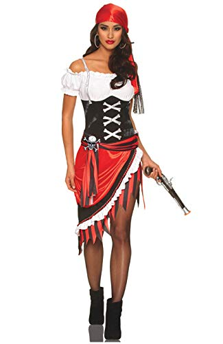 Sexy Pirate Wench Halloween Costume - Pirate Vixen Multicolored Large ()