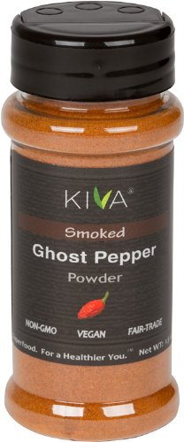 (Kiva Gourmet Smoked, Ghost Chili Pepper Powder (Bhut Jolokia) - Non GMO, Vegan, Fair Trade)