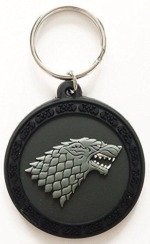 """Game Of Thrones - Rubber Keychain / Keyring (The Stark House Crest / Sigli / Logo) (Size: 2"""" x 2"""")"""