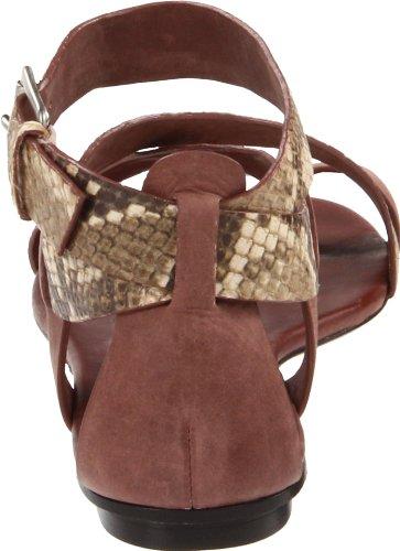 KORS Michael Kors Women's Zeehan Sandal,Teak/Muslin,8 M US