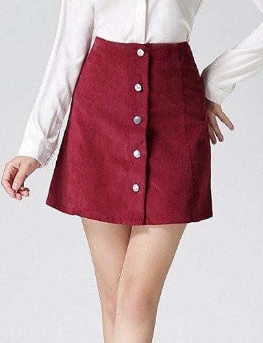 GSP-Damen Röcke - Leger / Arbeit Mini Baumwolle / Polyester / Andere Mikro-elastisch