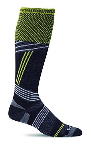 Sockwell Mens Alpine Racer Ski Graduated Compression Socks, Black, Medium/Large