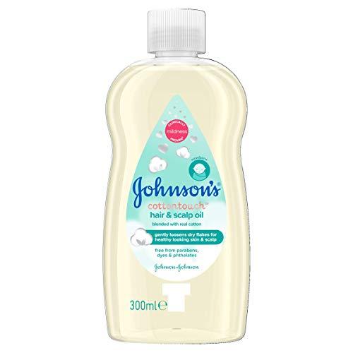 JOHNSON'S Baby Cottontouch Haar & Kopfhaut Öl 300ml - gemischt mit echter Baumwolle