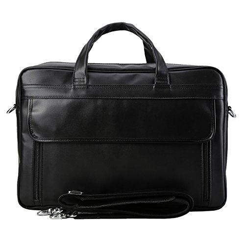 Polare Men's Real Leather Professional 17.7'' Briefcase Shoulder Messenger Business Bag by Polare (Image #1)