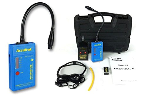 Superior AccuTrak VPE-GN PLUS Gooseneck Ultrasonic Leak Detector Plus Kit, Includes VPE Leak Detector, Headset, Battery, Hard Case, Touch Probe, Waveguide, Sound Generator Sound Generator Kit