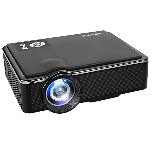 Home Video Projectors, ONE-MIX 2400 lumens Led Mini Portable Projector 1080P HD HDMI VGA AV USB Support, Home Theater Movie Projector for TV, Entertainment, Laptop, PS4, Fire TV Stick, DVD, Outdoor