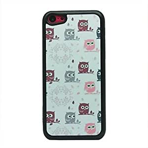 GHK - Colorful Owls Pattern Hard Case for iPhone 5C