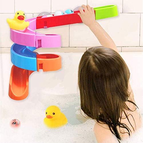 41T5TD3CkyL. AC - Baby Bath Toys 27 Pcs Bathtub Bath Toys For Toddlers 3-4 Years Old DIY Waterfall Track Bath Toys For Kids Ages 4-8, Waterfall Station Educational Bath Toys For Boys & Girls