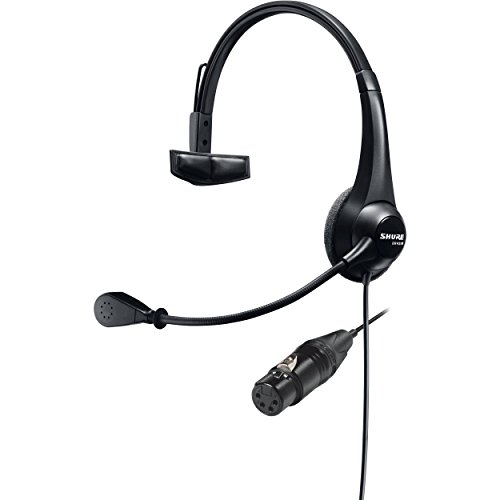 Shure BRH31M-NXLR4F Lightweight Single-Sided Broadcast Dynamic Microphone Headset by Shure