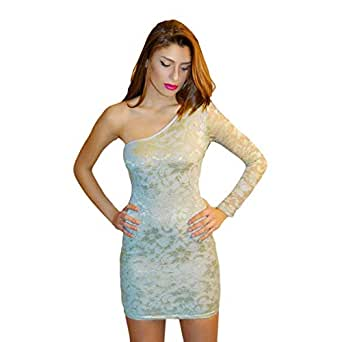 Hipster Bmd3ls-m Body-con Dress For Women - M, Blue And Gray