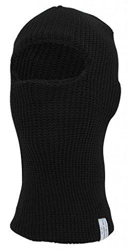 [TopHeadwear Face Ski Mask 1 Hole, Black] (Anonymous Man Costume)