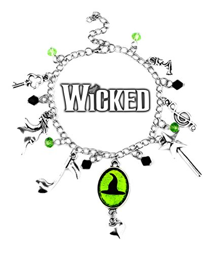 Superheroes Brand Wicked Charm Bracelet Broadway Musical w/Gift Box Premium Quality Cosplay Jewelry Series by by Superheroes Brand