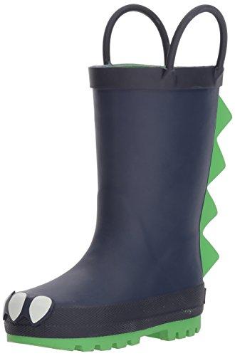 carter's Boys' Rainboot Rain Boot, Navy, 12 M US Little Kid