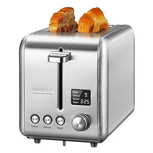Willsence 2 Slice Toaster Stainless Steel with Digital LCD Display,