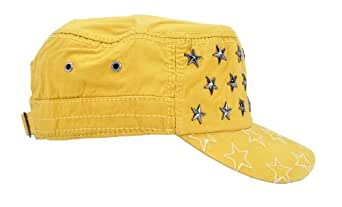 Simplicity Urban Cabbie Peak Cap, Yellow Star