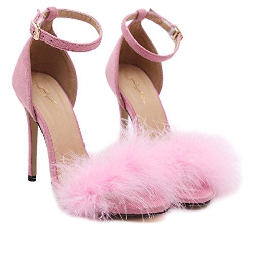 UE Pink di europee piedi moda con scarpe e donna dei tacco dita RUGAI americane scarpe da Scarpe e alti estive donna alto tacchi da dqwx7gz