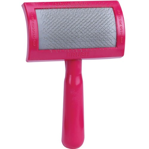 Oscar Frank Universal Standard Premium Plastic Handle Pet Slicker Brush, Medium, Pink (Grooming Forge Dog)