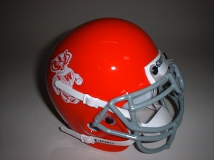 Schutt Wisconsin Badgers (1969) Mini Throwback Football Helmet from