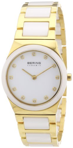 BERING Time 32230-751 Women's Ceramic Collection Watch with Ceramic Link Band and scratch resistant sapphire crystal. Designed in Denmark.