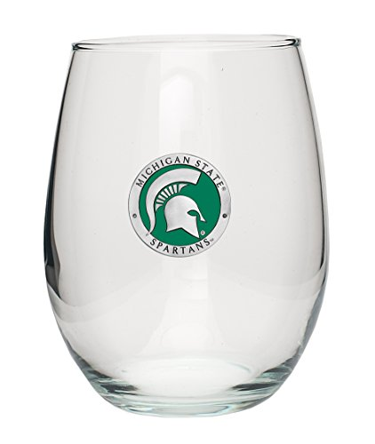 NCAA Michigan State Spartans Stemless Goblet Gift Set (Set of 4), One Size, Multicolor ()