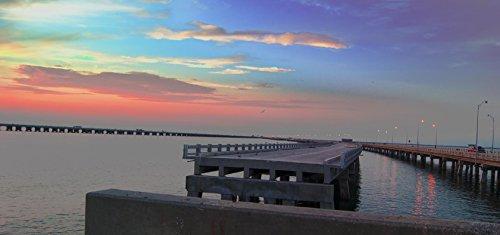 Skyway Pier #2 in St. Petersburg, Florida Photographic Canvas Print (36x12)