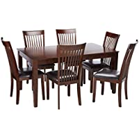 Ashley Furniture Signature Design - Mallenton Rectangular 7-Piece Dining Room Set - Inclues Table & 6 Chairs - Medium Brown