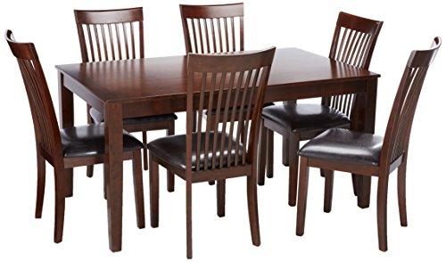 Ashley Furniture Signature Design - Mallenton Rectangular 7-Piece Dining Room Set - Inclues Table & 6 Chairs - Medium (Brown Dining Room Set)