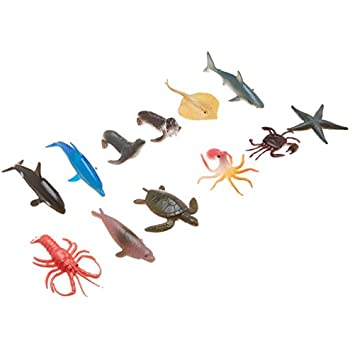 Action Figures Sea Animal Figures Animal Toys 38pcs Mini Sea Animal Toys Set Realistic Animal S Jade White Toys & Hobbies