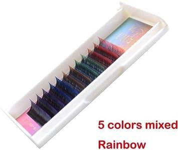 21f269eddbc Scala 5 Colors Mix Gradient Rainbow Colorful 12 Rows/tray C Curl 0.10 Flash  Eyelash