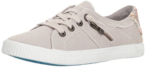 Blowfish Women's Fruit Sneaker, Sand Grey Smoked oz Canvas, 10 M US