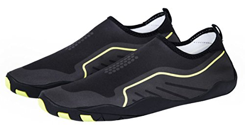 MEWOOCUE Sport Water Shoes Barefoot Quick-Dry Aqua Socks Beach Swim Surf Yoga Skin Shoes for Men Women - Size 9 by MEWOOCUE (Image #6)